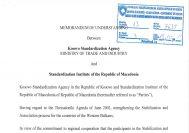 Memorandum Mirëkuptimi ndërmjet Agjencisë Kosovare të Standardeve dhe Institutit Maqedonas të Standardizimit